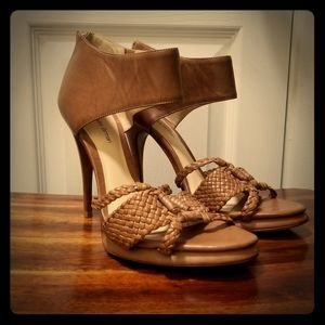 Alexandre Birman tan leather heels, size 9 AS IS